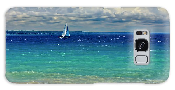 Lake Huron Sailboat Galaxy Case