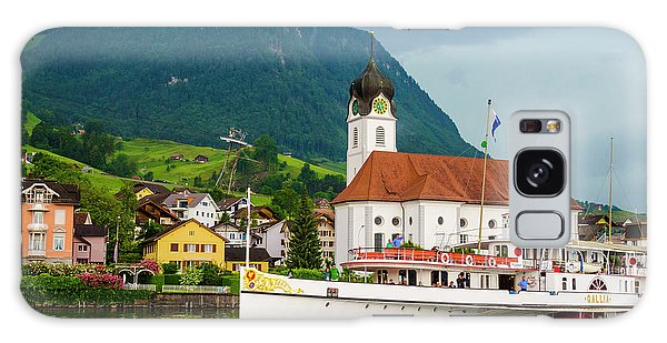 Lake Lucerne Steamer Galaxy Case