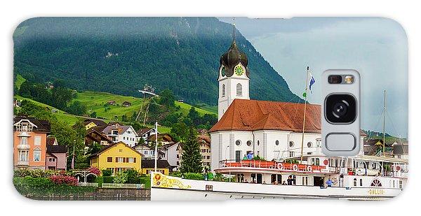 Lake Lucerne Steamer Galaxy Case