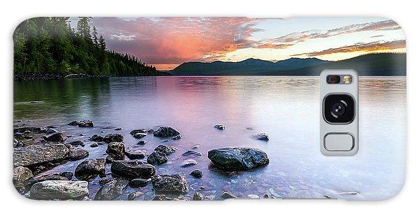 Lake Mcdonald Sunset Galaxy Case