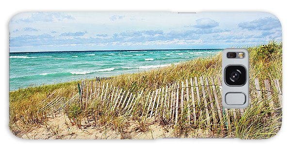 Lake Michigan Beachcombing Galaxy Case