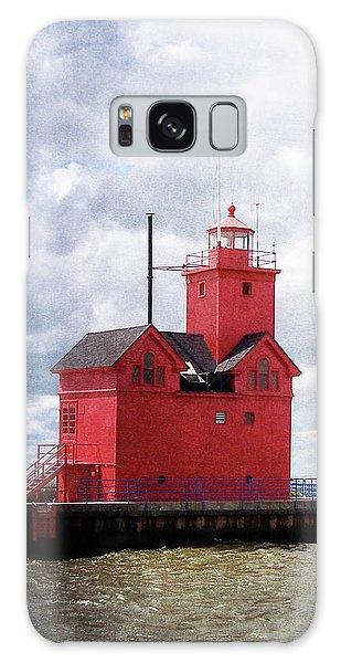 Lake Michigan Light House Galaxy Case
