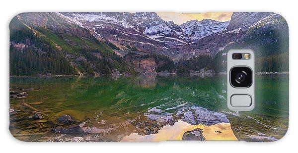 Moraine Lake Galaxy Case - Lake Ohara Wiwaxy Peaks Sunrise by Mike Reid