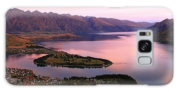 Dusk Galaxy Case - Lake Wakaitipu At Queentowns At Dusk by Vichie81
