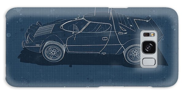 Lancia Stratos Hf - Side View - Stained Blueprint Galaxy Case