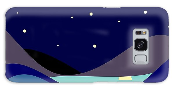 Glow Galaxy Case - Landscape. Moonlit Night. Vector by Kizuneko