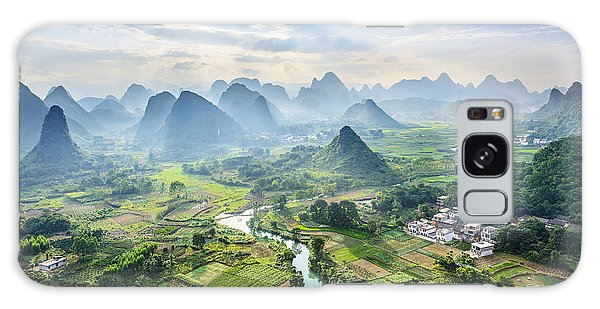 Scenery Galaxy Case - Landscape Of Guilin, Li River And Karst by Aphotostory
