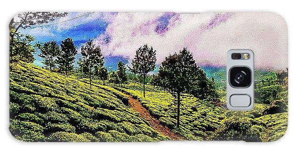 Green Landscape Galaxy Case