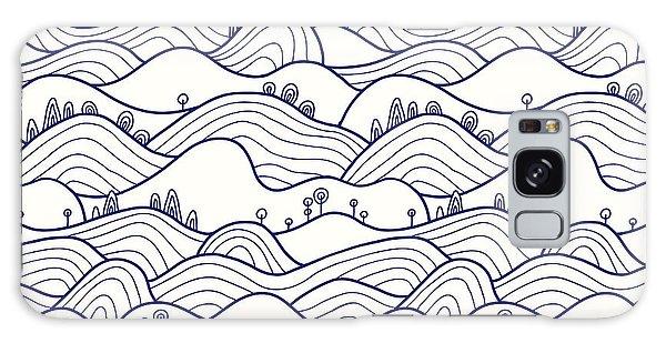 Ecology Galaxy Case - Landscape Pattern. Vector Seamless by Likemuzzy