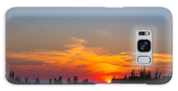Cloudscape Galaxy Case - Landscape With Dramatic Light - Orange by Wingedbull