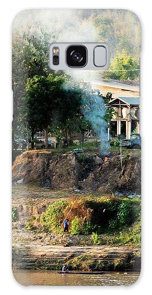 Laos Riverside Scene  Galaxy Case