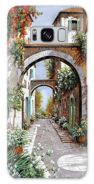 Arched Galaxy Case - L'arco Dell'angelo by Guido Borelli