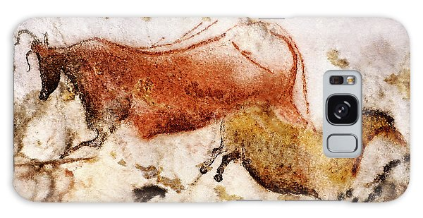 Lascaux Cow And Horse Galaxy Case