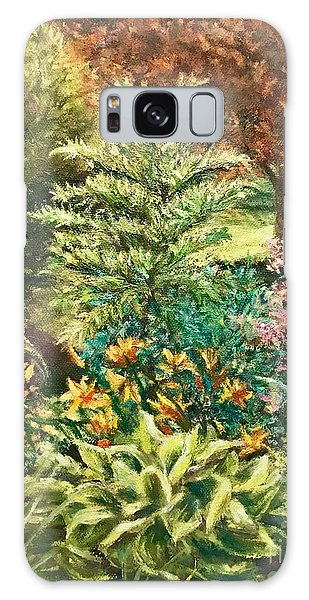 Galaxy Case featuring the painting Late Summer Garden by Gail Allen