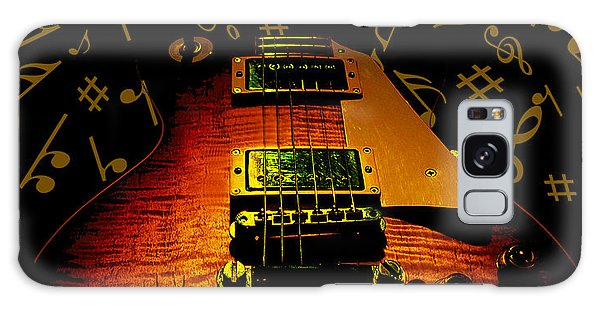 Galaxy Case featuring the digital art Latin Guitar Music Notes by Guitar Wacky
