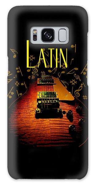 Latin Guitar Music Notes Galaxy Case