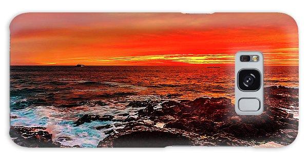 Lava Bath After Sunset Galaxy Case