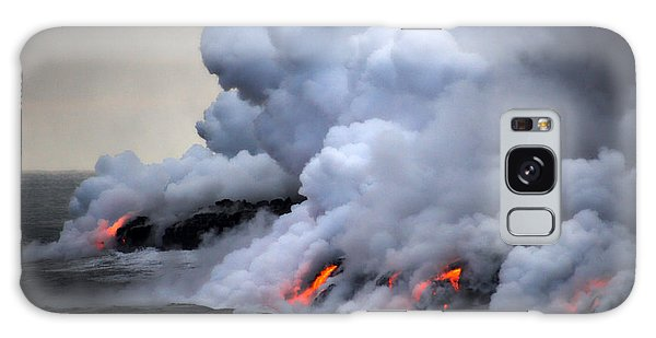 Geology Galaxy Case - Lava Erupting Into Pacific Ocean During by George Burba