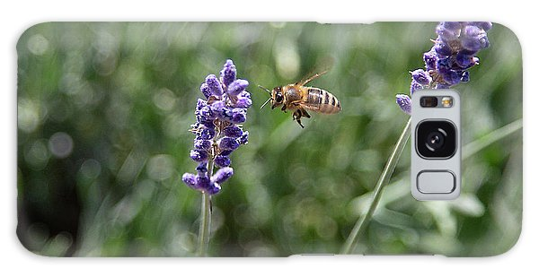 Galaxy Case featuring the photograph Lavender And A Bee by Dart Humeston