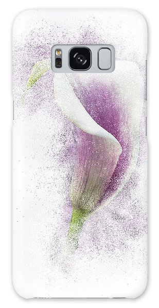 Lavender Calla Lily Flower Galaxy Case