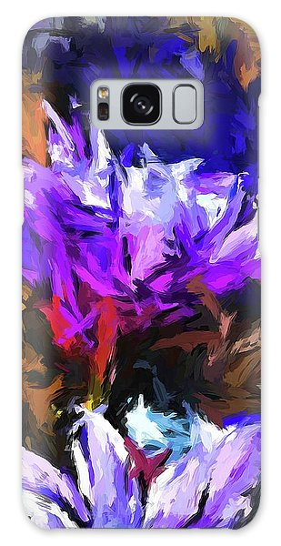 Lavender Flower And The Cobalt Blue Reflection Galaxy Case