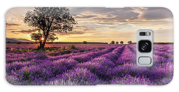 Lavender Sunrise Galaxy Case