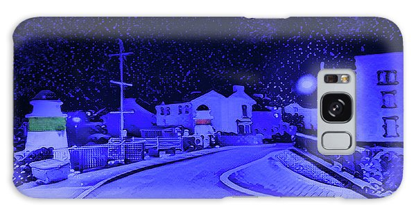 Galaxy Case - Laxey New Bridge In Snow by Digital Painting