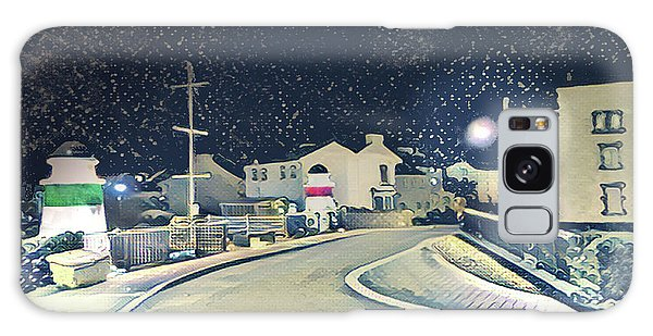 Galaxy Case - Laxey New Bridge On A Winter's Night by Digital Painting