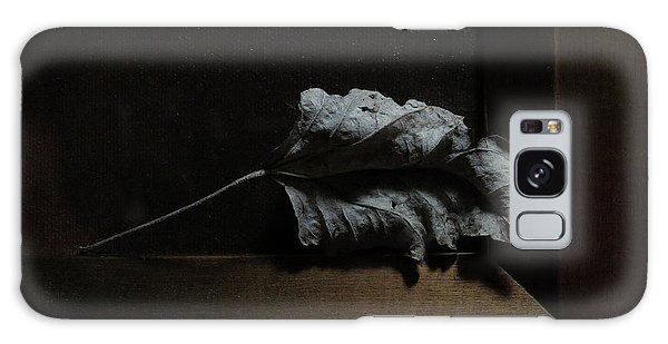 Galaxy Case featuring the photograph Leaf And Frame by Attila Meszlenyi