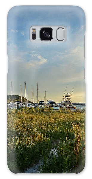 Leland Harbor At Sunset Galaxy Case