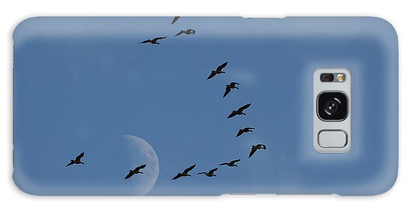 Canada Goose Galaxy Case - Lesser Canada Geese, Migration Flight by Ken Archer