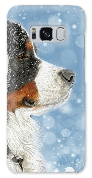 Galaxy Case featuring the mixed media Let It Snow - Arctic Blue by Donna Mulley