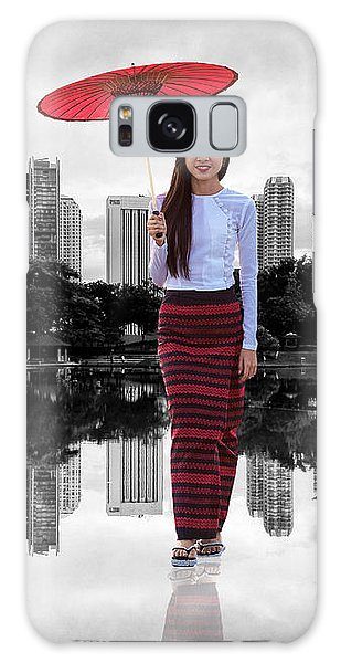 Galaxy Case featuring the digital art Let The City Be Your Stage by ISAW Company