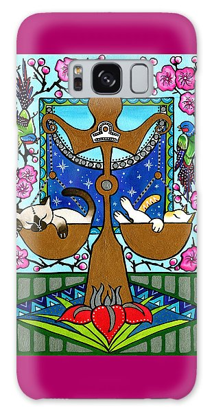 Libra Cat Zodiac Galaxy Case