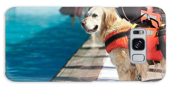 Swimming Galaxy Case - Lifeguard Dog, Rescue Demonstration by Antonio Gravante