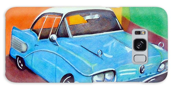 Light Blue 1950s Car  Galaxy Case