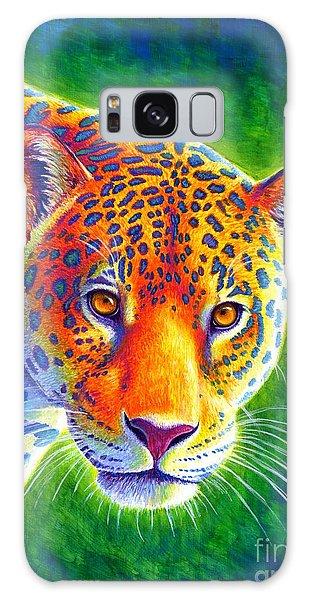 Light In The Rainforest - Jaguar Galaxy Case