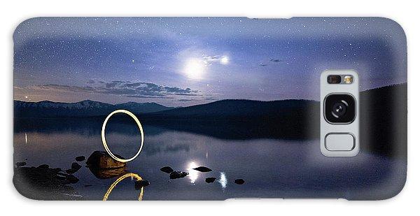 Light Painting Lake Mcdonald Galaxy Case