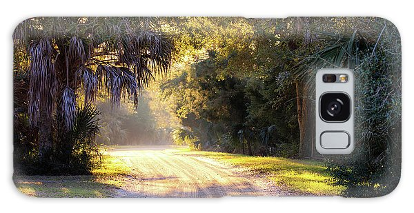 Light, Shadows And An Old Dirt Road Galaxy Case
