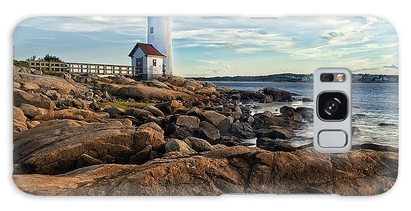 Navigation Galaxy Case - Lighthouse At Sunset Off Annisquam by Christian Delbert