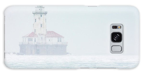 Lighthouse In The Mist Galaxy Case