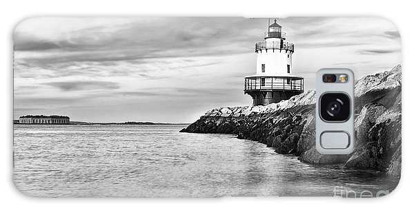 Dawn Galaxy Case - Lighthouse On Top Of A Rocky Island In by Stuart Monk