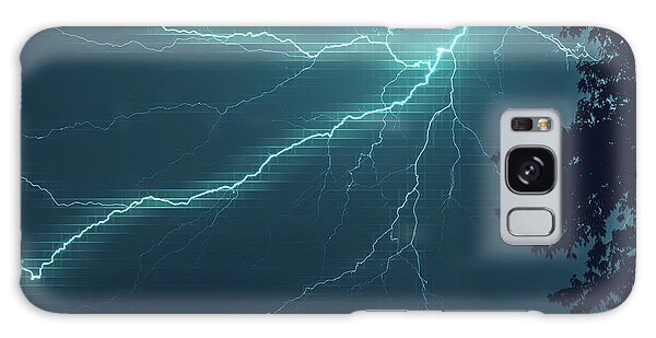 Lightning Grid Galaxy Case