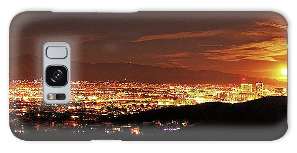 Lights Of Tucson And Moonrise Galaxy Case