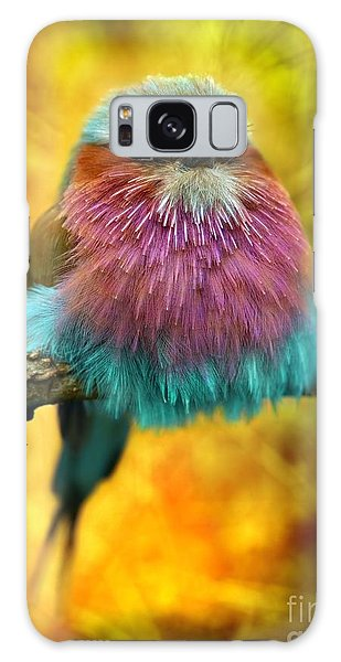 Breast Galaxy Case - Lilac Breasted Roller Bird With Funky by Tomatito