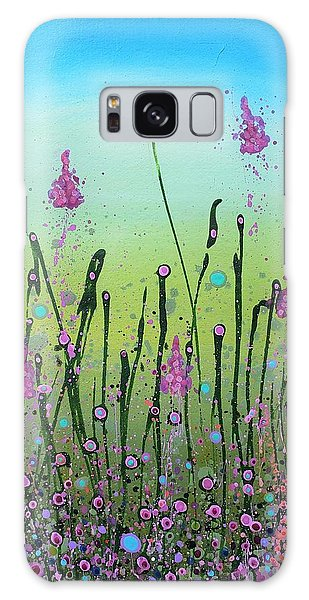 Lilacs And Bluebells Galaxy Case