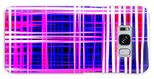 lines and squares in purple Color Waves - PL414 Galaxy Case
