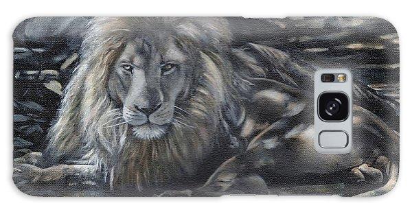 Lion In Dappled Shade Galaxy Case