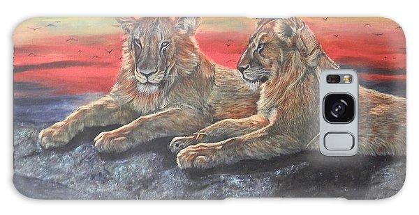 Lion Sunset Galaxy Case