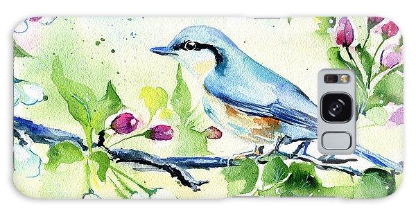 Little Blue Spring Bird Galaxy Case